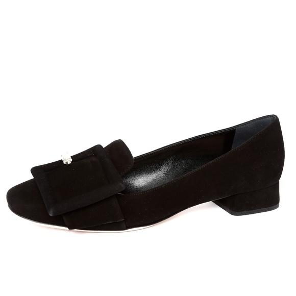 dbf4b278a720 Miu Miu Black Suede Calzature Donna Pump Flats 7.5